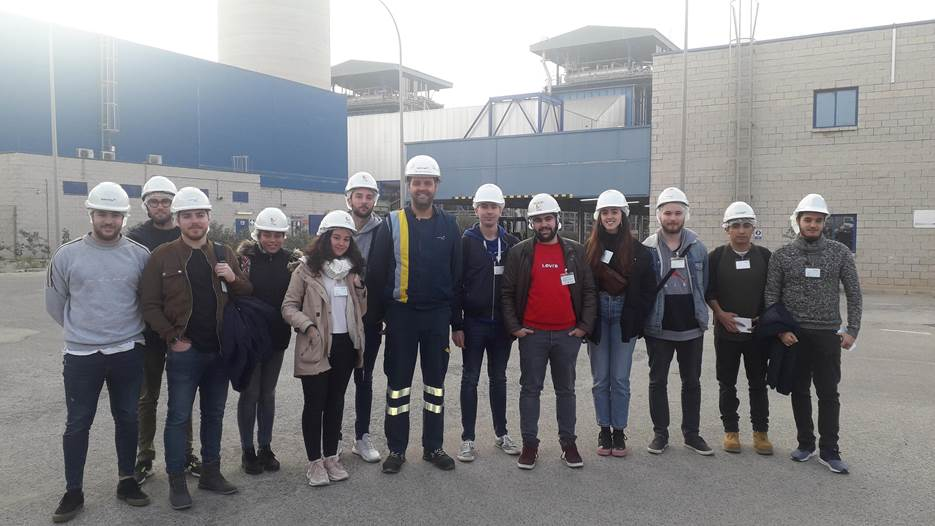 Visita de los alumnos del Grado en Ingeniería de Recursos Minerales y Energía a la Central de Ciclo Combinado de Naturgy en Escombreras